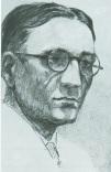 Selbstbildnis Bleistiftzeichnung, Alois Stettner